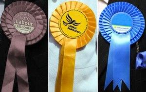 Labour-Liberal-Democrat-Conservative-rosettes
