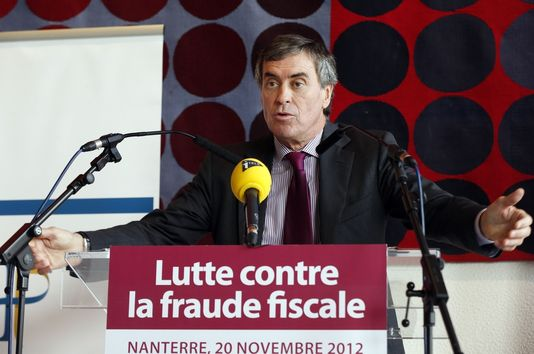 "French Budget Minister Jérôme Cahuzac ""fighting against tax fraud"" in November 2012"